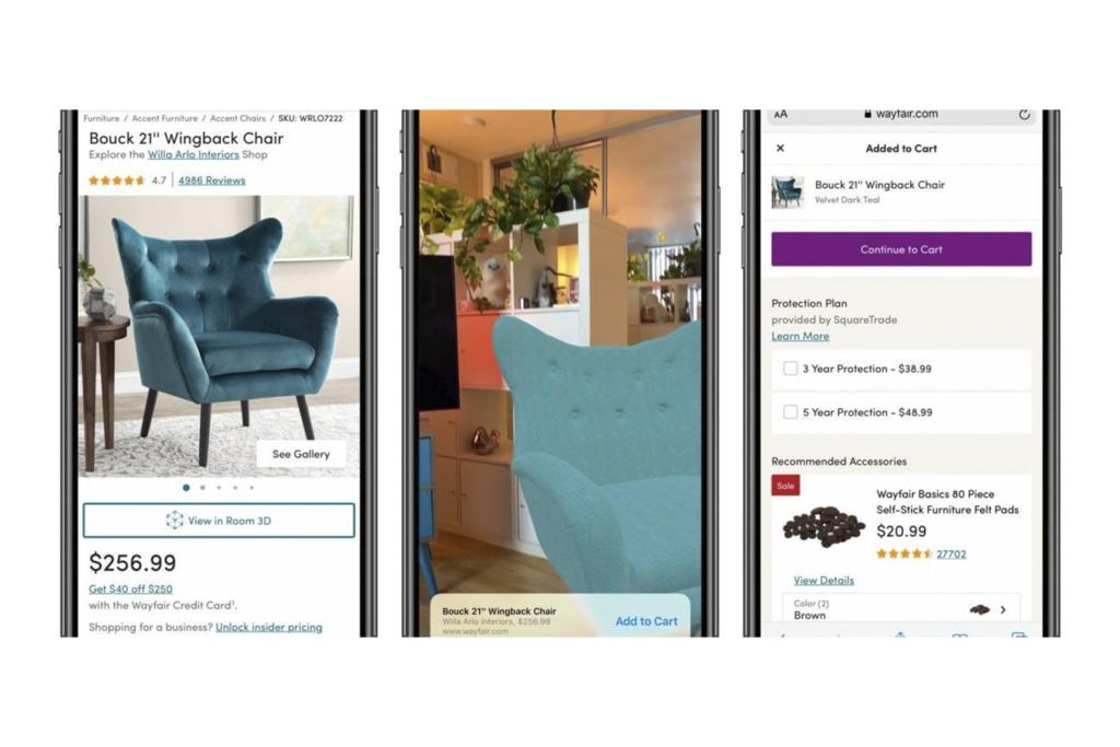 Quick Look:                                           compras con realidad aumentada