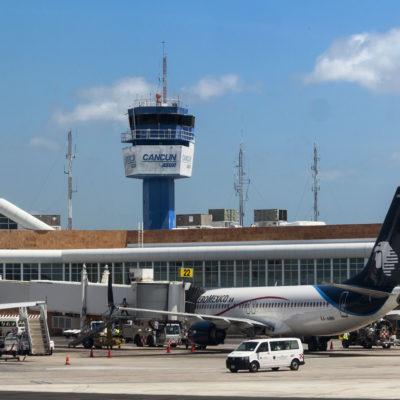 Aeropuerto Internacional de Cancún mantiene operaciones con filtros y protocolos sanitarios