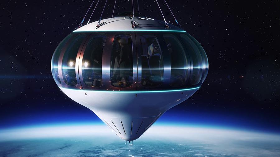 Neptune: Un futurista globo aerostático que llevará a  turistas al espacio