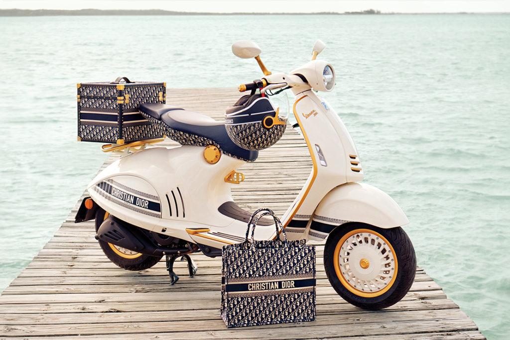 Dior y Vespa se unen para crear el scooter más glamoroso