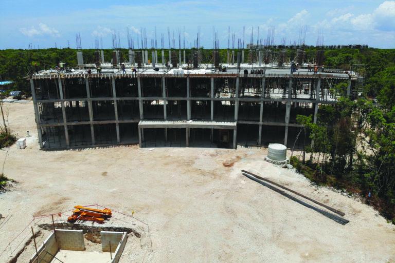 Avance de obra de La Ceiba de Ciudad Mayakoba