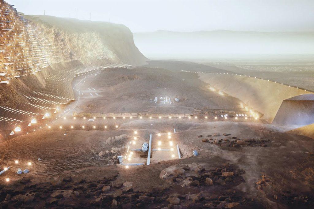Nüwa, la primera ciudad humana en Marte